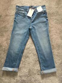 Size 8 Cropped denim trousers - New with tags