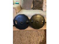 (Weights) 2 X 25KG Olympic Plates (Not Selling) READ DESCRIPTION!