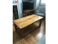 Large wooden coffee table in excellent condition