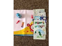 Large Teletubbies Aquadoodle mat and 6 smaller mats with pens and stamper