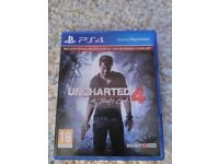 Uncharted 4 with bonus dlc ps4 game