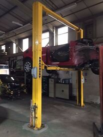 BRADBURY 2 Two Post Car Van Vehicle Ramp 4 Tonne Baseless Lift Hoist Garage Equipment H24 MINT COND
