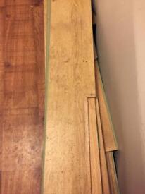 Oak effect laminate flooring