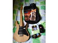 Yamaha Pacifica electric guitar & accessories