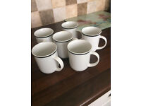 Set of 6 Matching Cups, nice China