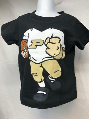 Neu Purdue Boilermakers Kleinkind Größe 2t Schwarz Genuine Stuff Shirt