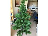 Artificial Xmas tree and decorations
