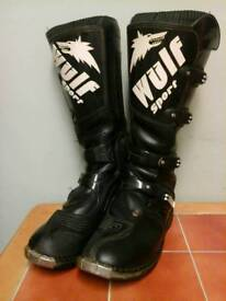 Wolf sport motocross boots size12
