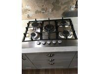 Gas Hob (5 Burner) Lamona-make, work-tops, sink and taps