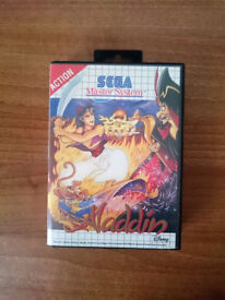 Sega Master System game - Disney's Aladdin - Boxed with Manual - Retro