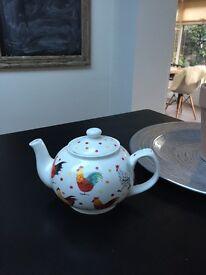 Shabby chic chicken tea pot by Alex Clarke