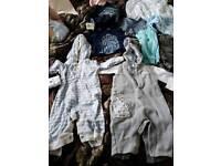 Bundle of newborn clothing