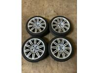 """19"""" BMW spider alloys , like new tyres"""