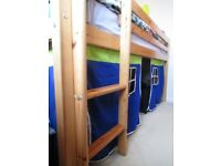 Cabin Bed with tent surround and over bed canopy.