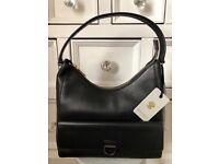 Modalu Black Leather Hobo BNWT