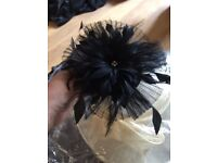 Black Wedding Fascinator