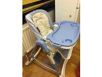 High chair in very good condition. Hardly used