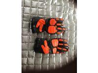 Ladies motorcycle gloves Black and Orange size Medium