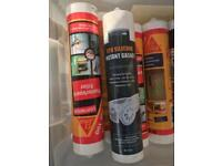 JOB LOT OF GENERAL SILICONE SEALENT 0.50p EACH BOTTLE OR 2 FOR £1 LOOK A BARGAIN