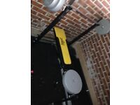 Weights bench and exercise bike