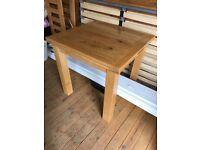 Oak dining table Willis and gambier Normandy range 80cmx80cm or 80cmx160cm