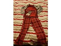 Super cute pajamas / Don't moose with me / 6 - 7 years/ George /