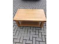 Solid oak wood coffee table