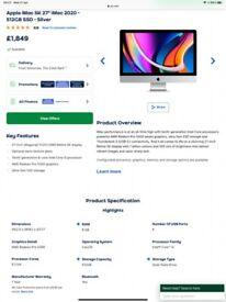 "Apple iMac 5K 27"" iMac 2020 - 512GB SSD - Silver"