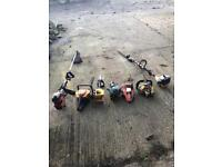 Petrol garden tools job lot spares or repairs, strummers, hedge cutter, chainsaws