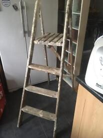 VINTAGE WOODEN STEP LADDERS - CAN DELIVER