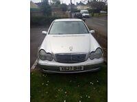 Mercedes c200, 2001,silver,petrol/lpg, 116k