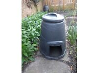 Compost Bin, Black with Lid