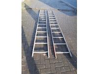 2 aluminum 13 foot high ladders