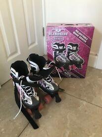 Blindside adjustable quad skates 4-7, excellent condition