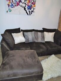 LUSH COMFY LEFT OR RIGHT HANDED CORNER SOFA FOR SALE.