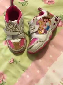 Light up Princess trainers size infant 7
