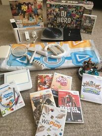 MASSIVE BUNDLE - Nintendo Wii Console + Wii Fit Board + Dance Mat + 11 Games + Turntable + Lots More