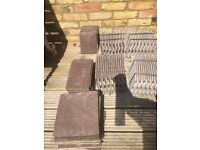 ROOF TILES - 02 BROWNS - APPROX 75 - MISCELLANEOUS SIZES
