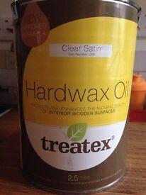 TREATEX Hardwax Oil - Clear Satin finish - located Reigate