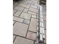 "One pair of ABRU aluminium ladders - extend to 4.49m (14'9"") - fair condition"