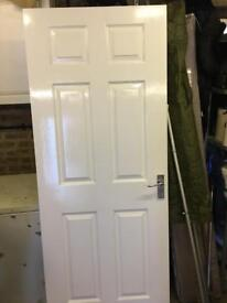 Solid wood internal panel door