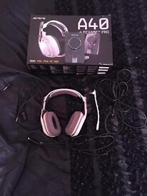 Astro a40 headset + mix amp pro
