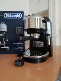 Delonghi espresso and cappuccino coffee maker.In excellent condition, working as brand new.
