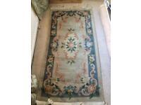 Blue wool vintage rug