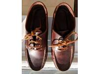 Next brown leather moccasins shoes size 9 eu 43