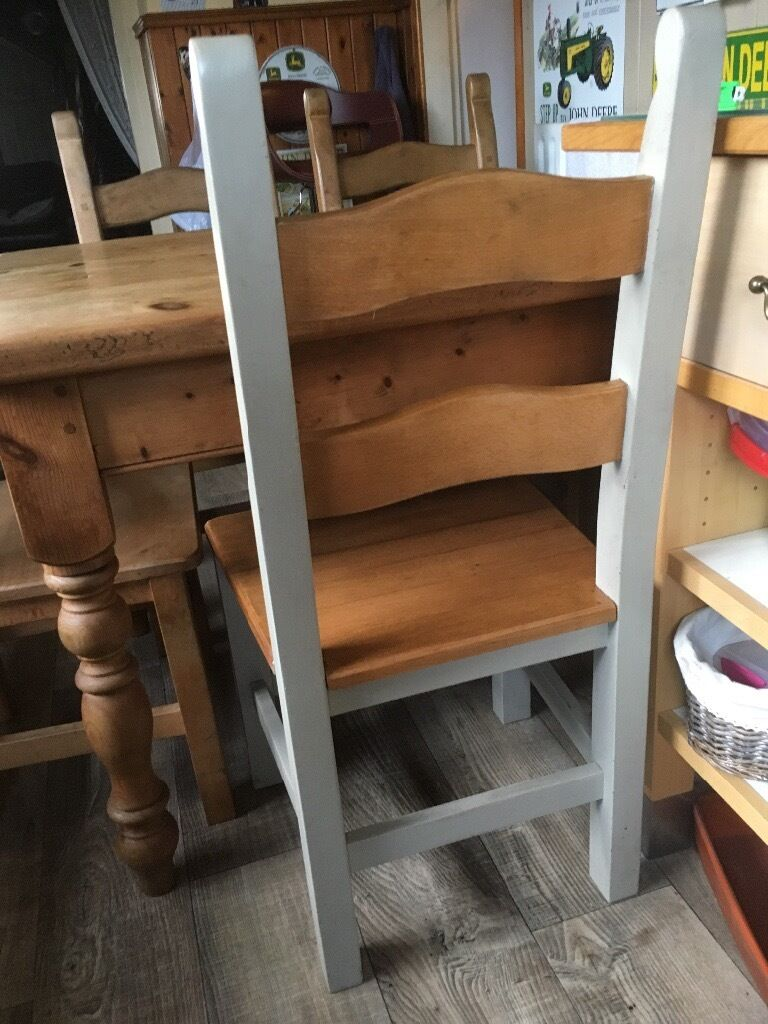 Pine Farmhouse Kitchen Table Solid Pine Farmhouse Kitchen Table 4 Chairs In Newcastle Under