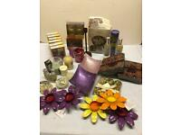 Mixed candles home fragrance items