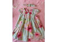 Girls Ted Baker Dress size 9-12months