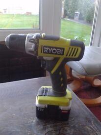 ryobi cordless battery drill 12volt