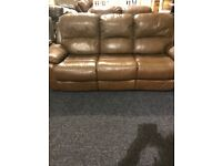 3/2 real leather recliner suite